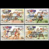 AITUTAKI 1988 - Scott# 419-22 Olympics Winners Set Of 4 MNH - Aitutaki