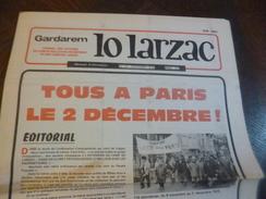 Journal Lo Larzac Gardarem Paysans Comité Millavois N°39 Décembre 1978 - Politique