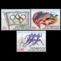 PENRHYN 1984 - Scott# 292-4 Olympics Set Of 3 MNH - Penrhyn