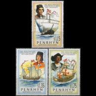 PENRHYN 1992 - Scott# 416-8 Discovery Set Of 3 MNH - Penrhyn