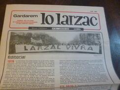 Journal Lo Larzac Gardarem Paysans Comité Millavois N°40 Décembre 1979 - Politiek