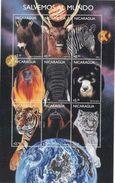 SAUVON LE MONDE - ANIMAUX - BLOC FEUILLET** DE 1996 - Nicaragua