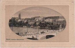 Passepartout Litho AK Basel Bale Stadt Mittlere Rheinbrücke Grossbasel Brücke Hotel Dom Kathedrale ? Suisse Helvetia - BS Bâle-Ville