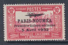 """Nlle Calédonie  P.A.  N° 19 X Timbre Surchargé """" Paris-Nouméa"""" : 90 C. Trace De Charnière Sinon TB - New Caledonia"""