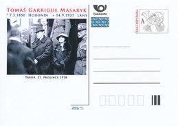 Tschech. Rep. / Ganzsachen (Pre2012/52) Tomas Garrigue Masaryk (1850-1937) Erster Präsident Der Tschechoslowakei - 1. Weltkrieg