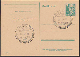 DDR P41I  HALLE (SAALE) Konferenz Der Dutschen Post GA-Karte 1952 - Postales - Usados