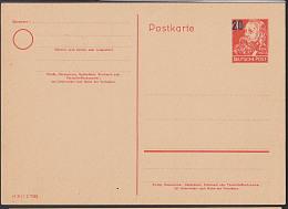 DDR P42/02 20 Auf 30 Pfg. Friedrich Engels GA-Karte Ungebraucht - [6] República Democrática