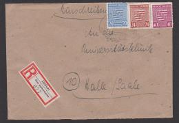 Provinz Sachsen Mi. 84X R-Brief Dittfurt üb. Aschersleben Doppelfernbrief - Sowjetische Zone (SBZ)