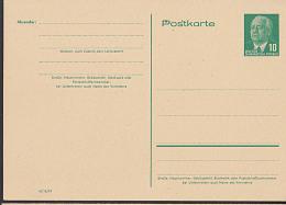 Germany East DDR P53 10 Pf Wilhelm Pieck GA-Karte Ungebraucht - [6] República Democrática