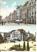2 CPSM/gf  MAGDEBURG (Allemagne).  Breite Weg, Animé, Tramway / Zentraltheater Am Kaiser Wilhelm-platz (repro).  .B115 - Magdeburg