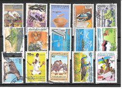 LOT DE TIMBRES OBLITERES DE DJIBOUTI - Gibuti (1977-...)