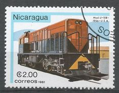 Nicaragua 1981. Scott #1137 (U) Model U-10B, Locomotive - Nicaragua