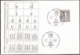 BRD FGR RFA -  Fußball-Vizeweltmeister (MiNr: 226y) 1966 - Karte   !lesen/read/lire! - BRD