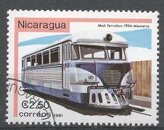 Nicaragua 1981. Scott #1138 (U) Ferrobus 1945, Locomotive - Nicaragua