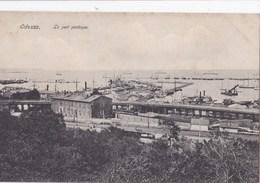Post Card : Odessa   (Ukraine )  Le Port  Pratique    Dos Divisé  Non  Voyagé      Ed Geselle      Rare - Ucraina
