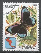 Nicaragua 1982. Scott #1149 (U) Eunica Alcmena, Butterfly, Papillon - Nicaragua