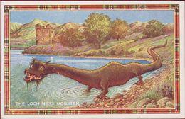 Old Postcard Loch Ness Monster Nessie  Scottish Highlands Schotland Scotland Great Glen Cryptozoology Kryptozoologie - Autres