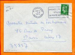 HAUTE VIENNE, Limoges, Flamme à Texte, Gagnez Du Temps Utilisez La Poste Aérienne, Flamme à Droite - Marcophilie (Lettres)