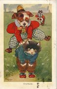 Cat Card -  Overbacks.     AE Kennedy.  CW Faulkner.   1917. - Chats