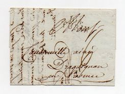 !!! PRIX FIXE: DEPT CONQUIS, 104 DEPARTEMENT DE L'ERIDAN, MARQUE POSTALE DE TURIN SUR LETTRE DE 1810 - Postmark Collection (Covers)