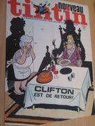 Page De Revue Des Années 70/80 : SUPERBE COUVERTURE DE LA REVUE  TINTIN : CLIFTON - Clifton