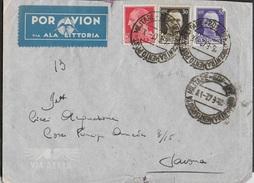 POSTA MILITARE - BUSTA PER VIA AEREA DA PM 402 (DURAZZO-ALBANIA)(bollo 3) (p.1) 16.06.1942 PER SAVONA - 1900-44 Victor Emmanuel III