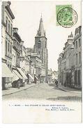 MONS - Rue D' Havré Et Eglise Saint-Nicolas - N° 7 Photo Bertels - Mons
