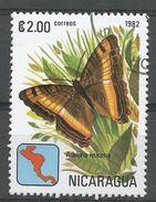 Nicaragua 1982. Scott #1151 (U) Adelpha Leuceria, Butterfly, Papillon - Nicaragua