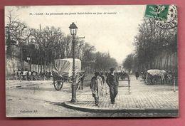 Caen - La Promnenade Des Fossés Saint-Julien Un Jour De Marché - Caen