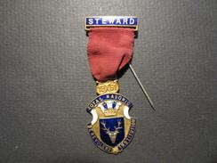 Médaille - Franc- Maçonnerie - Steward Royal Masonic Benevolent Institution - 1951 - Kenning & Son - - Massoneria
