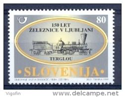 SI 1999-274 LOCOMOTIVE, SLOVENIA, 1 X 1v, MNH - Eisenbahnen