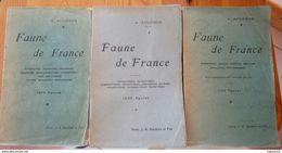3 Livres De A. Acloque, Faune De France, Ed ° Baillière, 1899, 1900, 1934 - Livres, BD, Revues