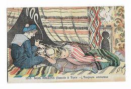 """Soldat Et Femme  - """" Nos  Marins  ( L,escale à Tunis ... Toujours  Amoureux )   Signée  A.P. Jarry - Humor"""