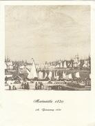 Menu Bateau Paquebot RENAISSANCE Illustration Marseille 1820 A. Garneray - Schiffe