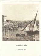 Menu Bateau Paquebot RENAISSANCE Illustration Marseille 1880 L. Gautier - Schiffe