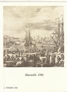 Menu Bateau Paquebot RENAISSANCE Illustration Marseille 1760 J. Vernet - Bateaux