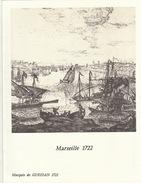 Menu Bateau Paquebot RENAISSANCE Illustration Marseille 1722 Marquis De Gueidan - Boten