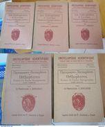 Lot De 5 Livres Insectes: Coléoptères, Orthoptères Dermaptères Et Thysanoures, France Et Europe, Professeur C. Houlbert - 1901-1940