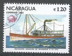 Nicaragua 1982. Scott #1158 (U) UPU Membership, Ship, Navire - Nicaragua