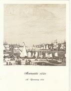 Menu Bateau Paquebot RENAISSANCE Illustration Marseille 1820 A. Garneray - Bateaux