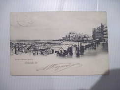 CPA OSTENDE  La Plage Très Animée 1903 T.B.E. - Oostende