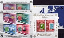 EUROPA 2006 KONGO Block 250+Montenegro Blocks 2A/B+3 ** 139€ S/s Blocs Stamps On Stamp Map Sheets Bf CEPT 1956-2006 - Dem. Republik Kongo (1997 - ...)