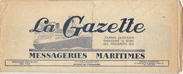 Journal De Bord Bateau Paquebot Messageries Maritimes - Bateaux