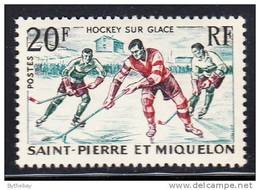 St Pierre Et Miquelon 1959 MNH Scott #358 20fr Ice Hockey - St.Pierre Et Miquelon