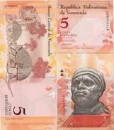Venezuela 2007 - 5 Bolivares - Pick 89 UNC - Venezuela