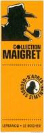 Marque Page BD Edition LEFRANC Pour MAIGRET - Marque-pages
