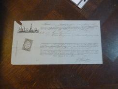 Connaissement Fontaine Bonneval 1880 Rouen à Libourne Vins Hautot Sur Marie Louise - Transports