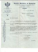 COURRIER SOCIETE MUTUELLE DE RETRAITE à PRIVAS ARDECHE 1951 - France