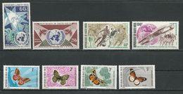 HAUTE-VOLTA  Scott C84-C85, C80-C81, 244-247 Yvert PA84-PA85, PA78-PA79, 242-245 (8) ** Cote 9,50$ 1970-1 - Haute-Volta (1958-1984)
