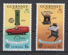 Guernesey: Europa. Service Postal Et Télécommunication Y&T N° 184/85 **. Superbes. Cote 2012: 1,10 € - Guernsey